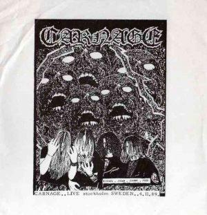 CARNAGE (Swe) – 'Live Stockholm 4-11-1989' CD