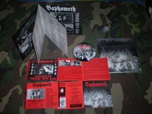 """BAPHOMETH (Ven) – 'In The Beginning' CD +7"""" booklet"""