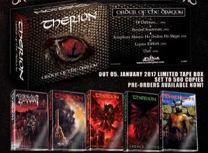 THERION (Swe) – 'Order of the Dragon' 5xTAPE BOXSET