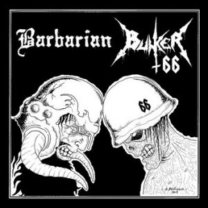 BARBARIAN / BUNKER 66 (It) - split CD
