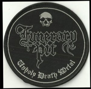 FUNERARY PIT (Oz) - 'Unholy Death Metal' PATCH