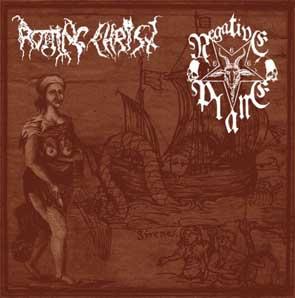 "ROTTING CHRIST / NEGATIVE PLANE (Gr/USA) – split 7""EP"