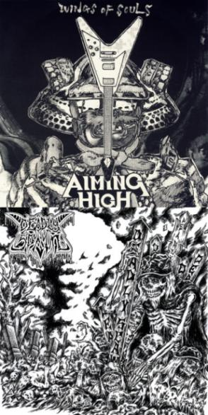 "DEADLY SPAWN / AIMING HIGH (Jap) – split 7""EP"