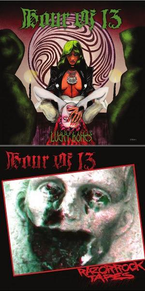 HOUR OF 13 (USA) – 'Lucky Bones / Razorrock' MLP Gatefold (Green vinyl)