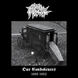 OLD FUNERAL (Nor) – 'Our Condolences' D-LP Gatefold (Clear vinyl)