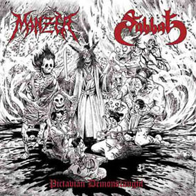 "MANZER / SABBAT (Fr/Jap) – split 7""EP"