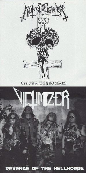 NUNSLAUGHTER / VICTIMIZER – split LP