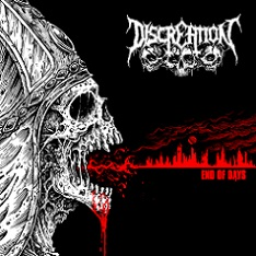 DISCREATION (Ger) – 'End of Days' LP (Red vinyl)