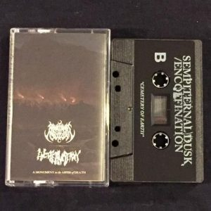 ENCOFFINATION / SEMPITERNAL DUSK (USA) - split TAPE