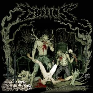 COFFINS (Jap) – 'Mortuary in Darkness' D-LP Gatefold (Green splatter vinyl)