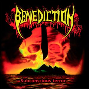 BENEDICTION (UK) – 'Subconscious Terror' LP Gatefold (Orange/yellow swirl)