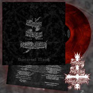 DARKENED NOCTURN SLAUGHTERCULT (Ger) – 'Nocturnal March' LP Gatefold (Red galaxy vinyl)
