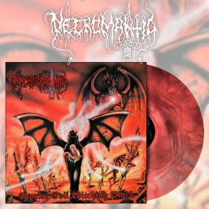 NECROMANTIA (Gr) – 'Scarlet Evil Witching Black' LP + Booklet (Red Marble vinyl)