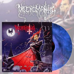 NECROMANTIA (Gr) – 'Crossing The Fiery Path' LP + Booklet (Blue Marble vinyl)