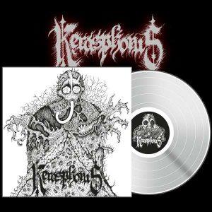 KERASPHORUS (USA) – 'Kerasphorous/Cloven Hooves…' LP Gatefold (White vinyl)