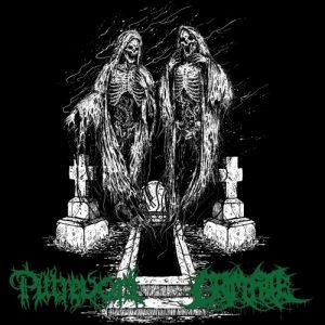 "PUTREVORE / GRIM FATE – split 7""EP (€7) Green vinyl."