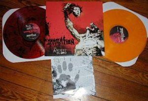 IMMOLATION / RIGOR MORTIS (USA) – 'The Ancient Blood' D-LP
