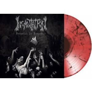 INCANTATION (USA) – 'Vanquish In Vengeance' LP (Orange/black marble)