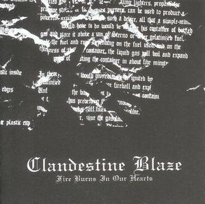 CLANDESTINE BLAZE (Fin) – 'Fire Burns In Our Hearts' CD